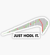 Upside down JUST HODL IT – Crypto Coin Trade Sticker