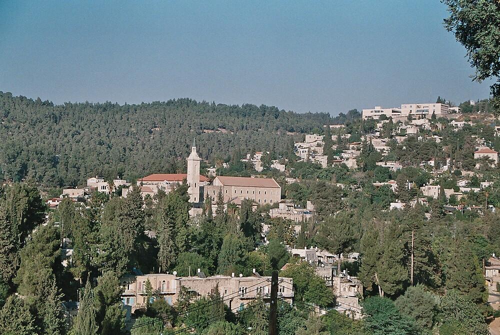 Ein Carem near Jerusalem Israel by Ilan Cohen