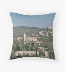 Ein Carem near Jerusalem Israel Throw Pillow