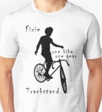 Fixie - one bike one gear - Trackstand (white) Slim Fit T-Shirt