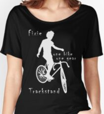 Fixie - one bike one gear - Trackstand (black) Women's Relaxed Fit T-Shirt