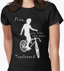Fixie - one bike one gear - Trackstand (black) Fitted T-Shirt