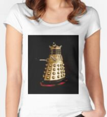 Dr Who and the Dalek's Art Painting - © Doc Braham; All Rights Reserved Women's Fitted Scoop T-Shirt