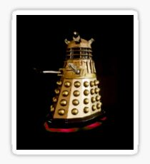 Dr Who and the Dalek's Art Painting - © Doc Braham; All Rights Reserved Sticker
