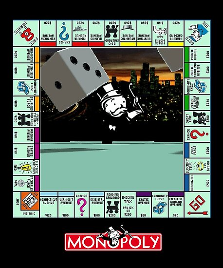 monopoly retro game board revised edition posters by ryan