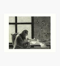Tawny Owl and Mockingbirds Art Print