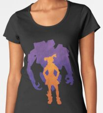 Gaige the Mechromancer and Deathtrap Women's Premium T-Shirt