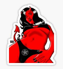 Demon Woman Drawing Stickers Redbubble