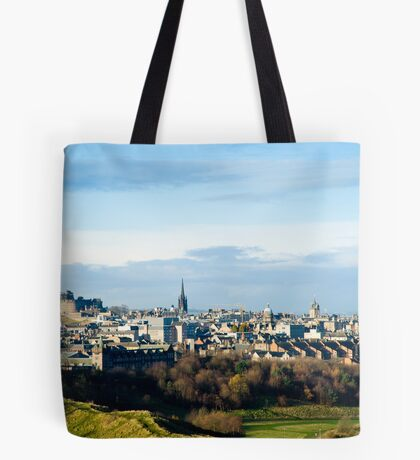 Edinburgh Castle from the Queen's Park Tote Bag