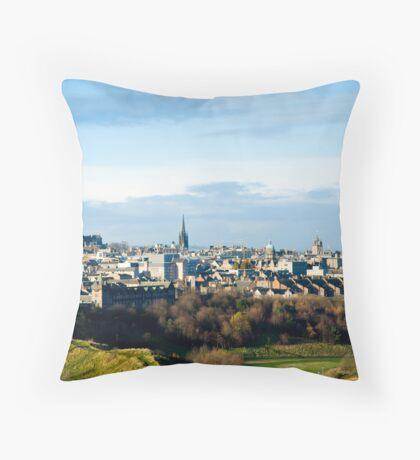 Edinburgh Castle from the Queen's Park Throw Pillow