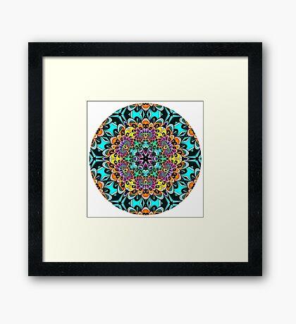 Rainbow Dahlia 2 Mandala Framed Print