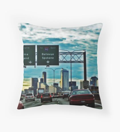 Seattle Sunrise Commute 6 Throw Pillow