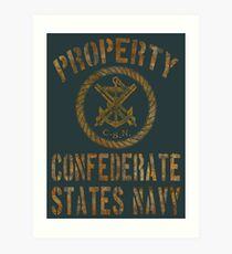 Property Confederate States Navy Light Design Art Print