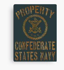 Property Confederate States Navy Light Design Canvas Print