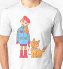 Girl and dog Unisex T-Shirt