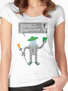 Robot Pimp Inc. - Line 10 Women's Fitted Scoop T-Shirt