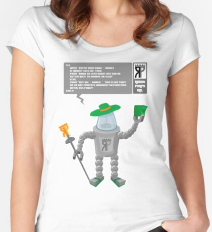 Robot Pimp Inc. - Line 10 Women's Fitted Scoop T-Shirt