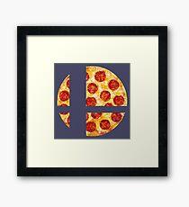 Pizza Smash Ball Framed Print
