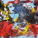 Fear into Courage Transformation. Day One. Original Abstract by Dmitri Matkovsky