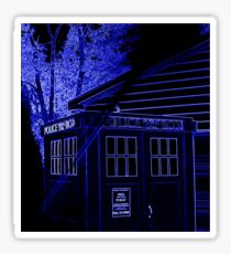 Neon Blue T.A.R.D.I.S. Sticker