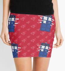 The TARDIS Traveling through Love Mini Skirt