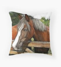Horse sense Throw Pillow
