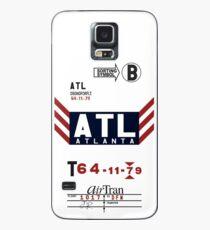 ATL- Hartsfield - Jackson Atlanta International Airport Vintage Luggage Tag Phone Case Case/Skin for Samsung Galaxy