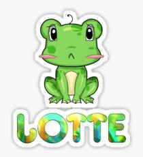 Lotte Frog Sticker