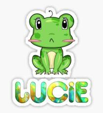 Lucie Frog Sticker