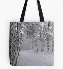 Pretty Winter Pathway Tote Bag