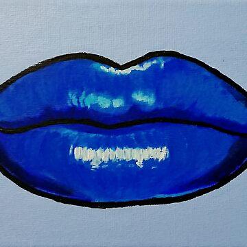 Cold Blue lips by IvysCraftShop