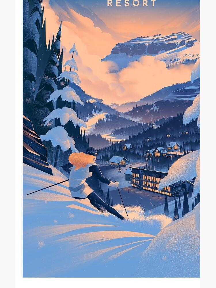 Zuckerdose, Ski Poster von BokeeLee