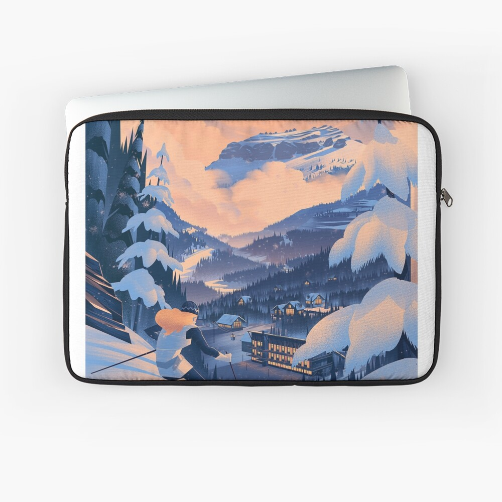 Zuckerdose, Ski Poster Laptoptasche