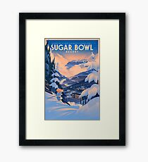 Sugar Bowl, Ski Poster Framed Print