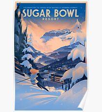 Sugar Bowl, Ski Poster Poster