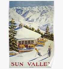 Sun Valley, Ski Poster Poster