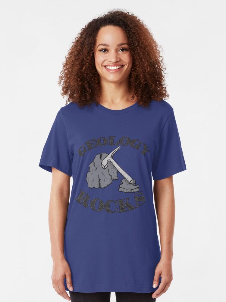 Alternative Ansicht von Geology Rocks Nerd Pun - Funny Geologist Humour Gift Slim Fit T-Shirt