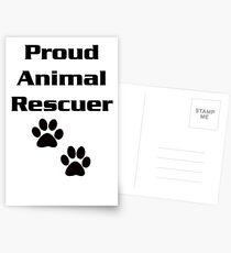 Proud Animal Rescuer Postcards