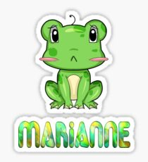 Marianne Frog Sticker