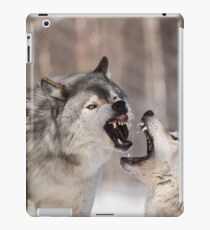 Timber wolves in winter iPad Case/Skin