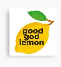 Good God Lemon Sticker & T-Shirt - Gift For TV Lover Canvas Print
