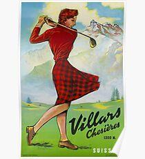 Villars - Chesières,Switzerland,Travel Poster Poster