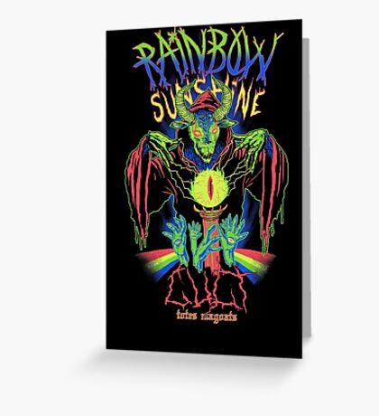 Rainbow Sunshine Cult Greeting Card