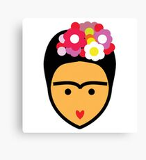 Frida Kahlo Vector Canvas Print