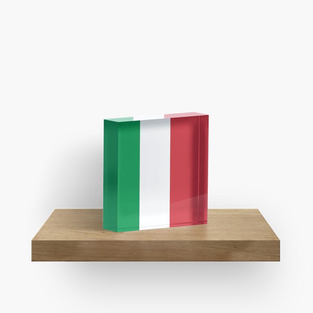 Italienische Flagge Acrylblock