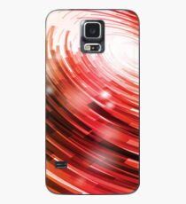 Yellow Black Red Circle on a White Background Abstract Art Case/Skin for Samsung Galaxy