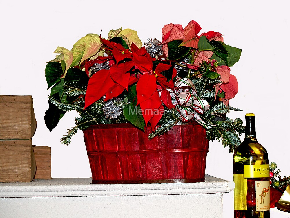 Christmas Basket with Wine by Memaa