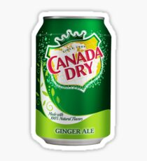 Canada Dry Can Sticker