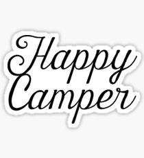 Happy Camper Drawn Script Sticker & T-Shirt - Gift For Hiker Skiier Traveler Sticker