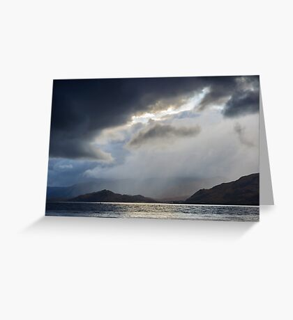 """Stormy Weather, """"Rift In The Sky"""" Greeting Card"""